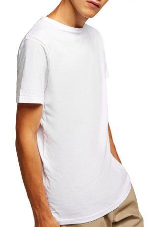Men's Topman Longline T-Shirt, Size Small - White