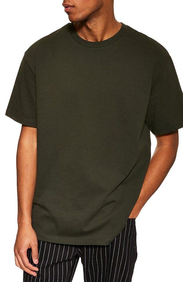 Men's Topman Oversize T-Shirt, Size Medium - Green