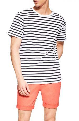 Men's Topman Stretch Skinny Chino Shorts, Size 30 - Orange