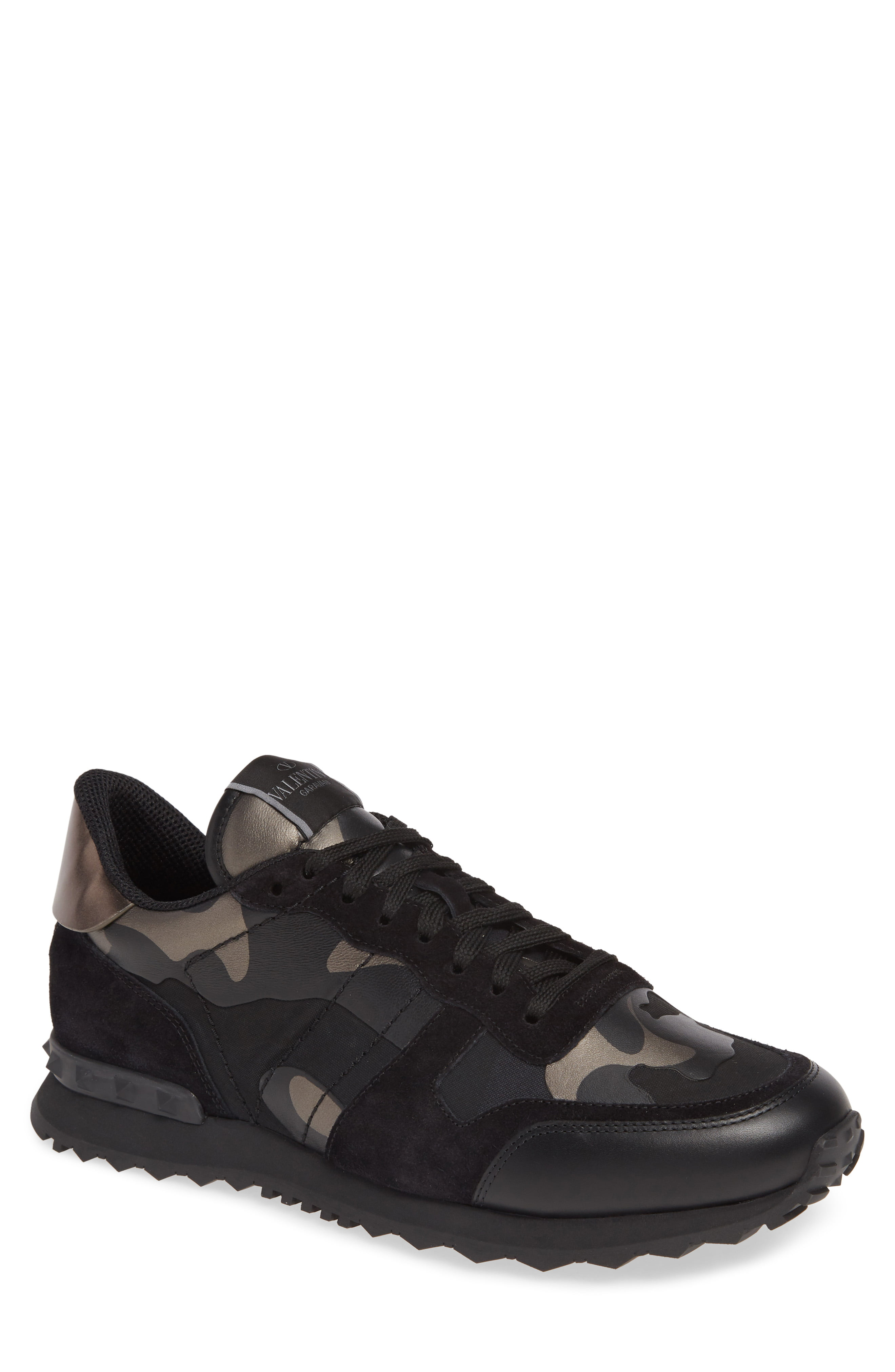 a70b0cf0a18ae Men's Valentino Garavani Camo Rockrunner Sneaker, Size 11US / 44EU – Black