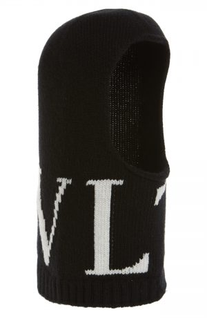 Men's Valentino Vltn Wool & Cashmere Balaclava - Black