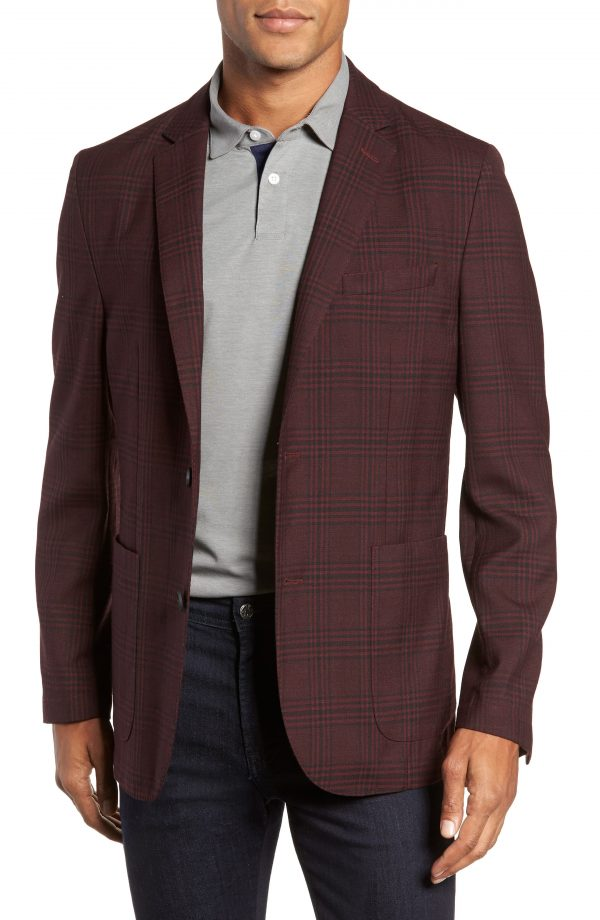 Men's Vince Camuto Dell Aria Slim Fit Unconstructed Sport Coat, Size Small - Purple