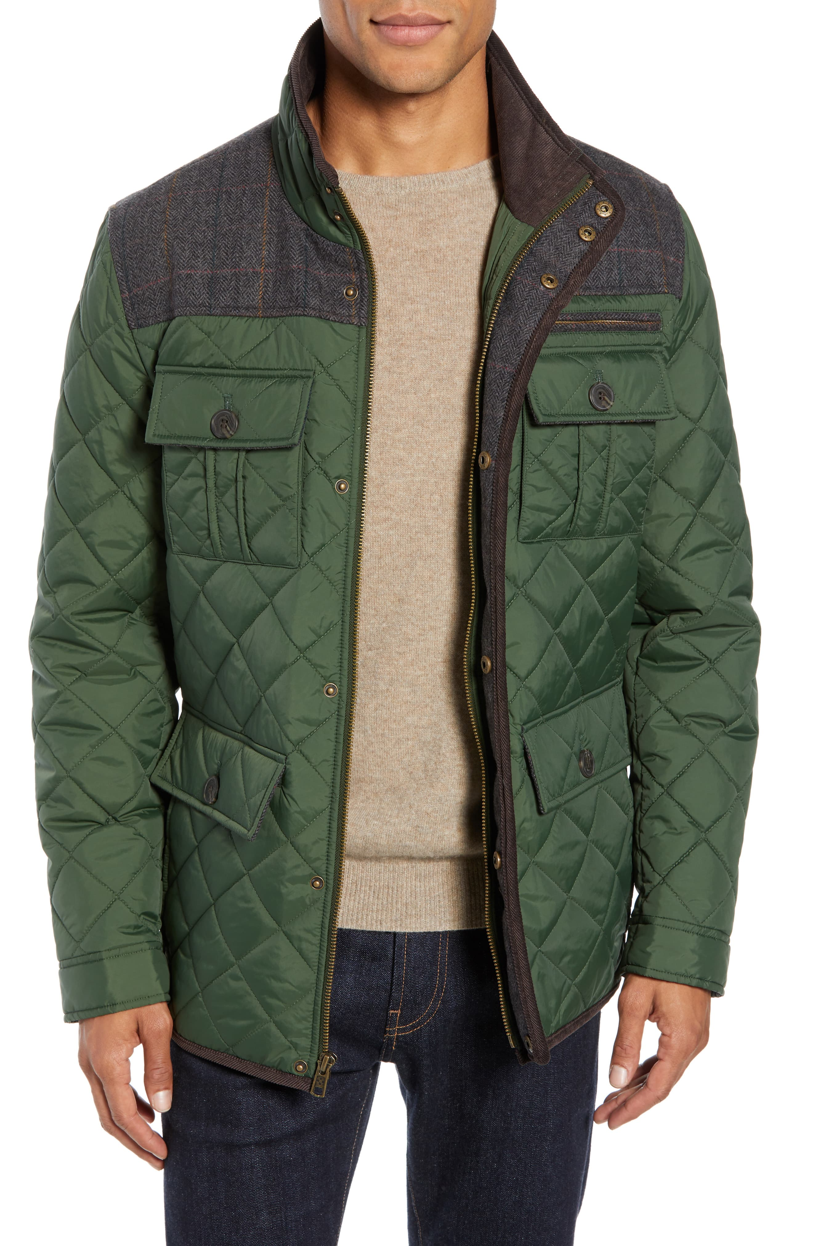 Men S Vince Camuto Diamond Quilted Full Zip Jacket Size