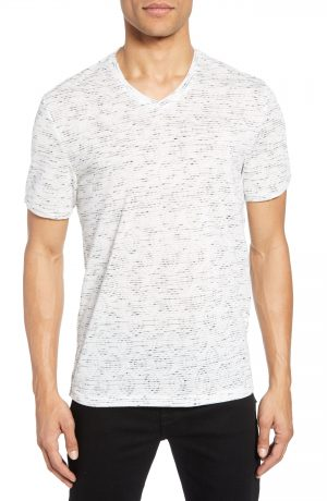 Men's Vince Camuto Slubbed Slim Fit V-Neck T-Shirt, Size X-Small - Grey