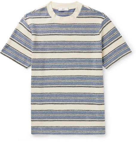 Mr P. - Bouclé-Stripe Cotton-Jersey T-Shirt - Men - Ecru