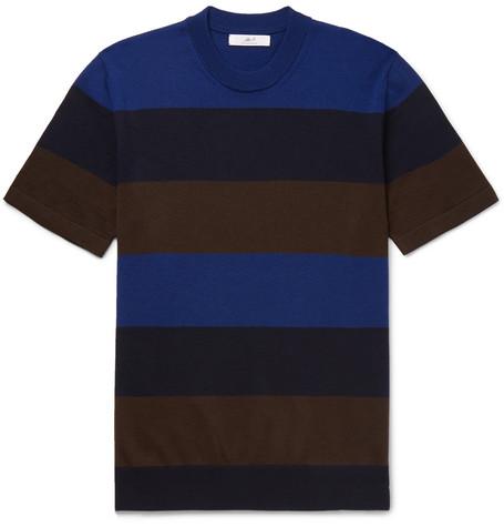 Mr P. - Striped Merino Wool T-Shirt - Men - Multi