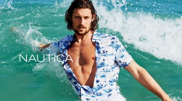 Top model Wouter Peelen stars in Nautica's summer 2019 campaign.