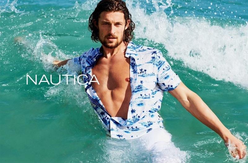 Top model Wouter Peelen stars in Nautica's summer 2019 campaign.