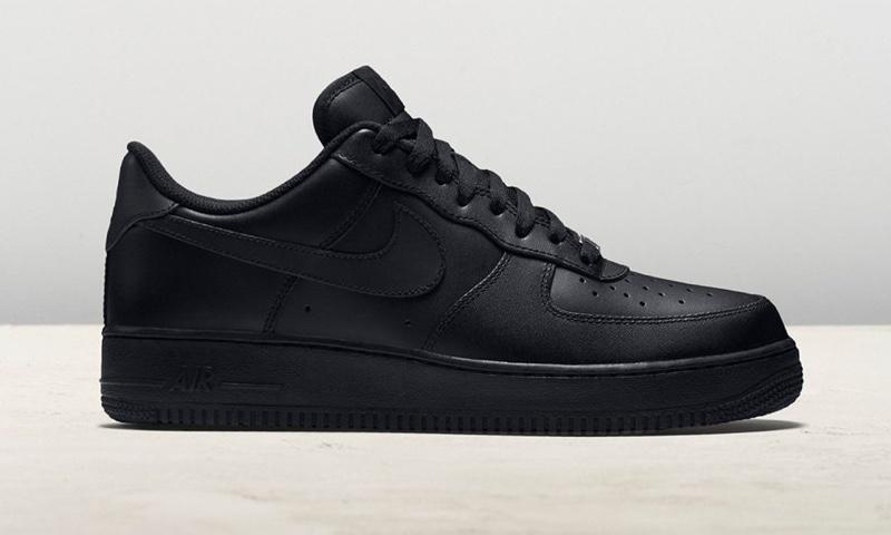 Nike Black Air Force Ones