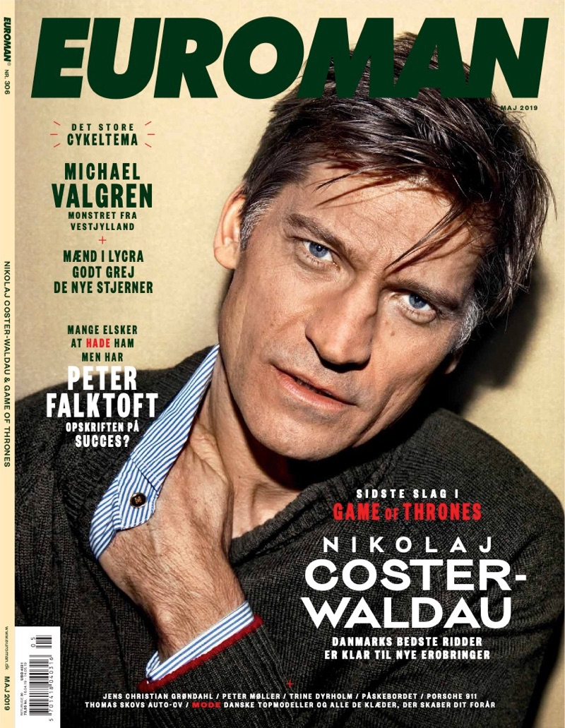 Nikolaj Coster-Waldau covers the May 2019 issue of Euroman.