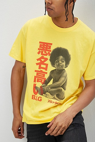 Notorious B.I.G. Graphic Tee at Forever 21 Yellow/multi