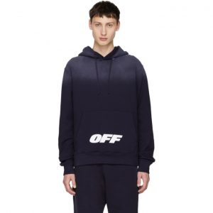 Off-White Blue Wing Off Logo Hoodie