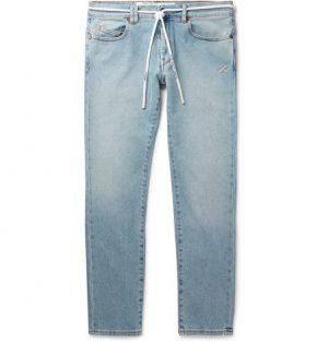 Off-White - Skinny-Fit Denim Jeans - Men - Blue