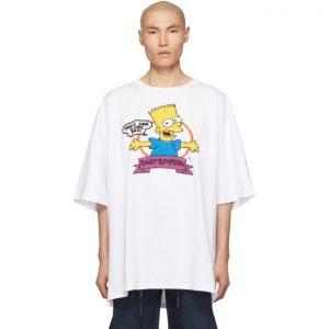 Off-White White Super Mega Oversized Bart T-Shirt