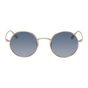 Oliver Peoples The Row Gold After Midnight Sunglasses