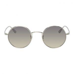 Oliver Peoples The Row Silver After Midnight Sunglasses