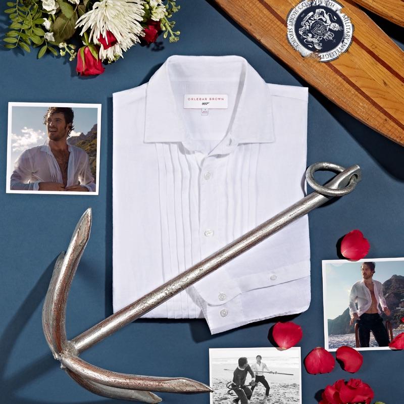 Orlebar Brown 007 Bond Pleated Dress Shirt $395