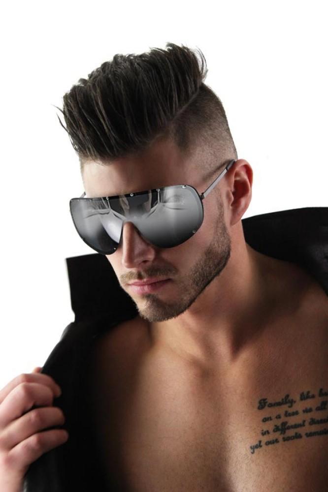 Oversized Rimless Sunglasses