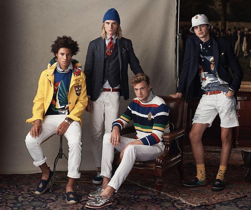 Embracing spring style, Johari Dramiga, Luke Eisner, Lane McAllister, and Darwin Gray wear POLO Ralph Lauren.