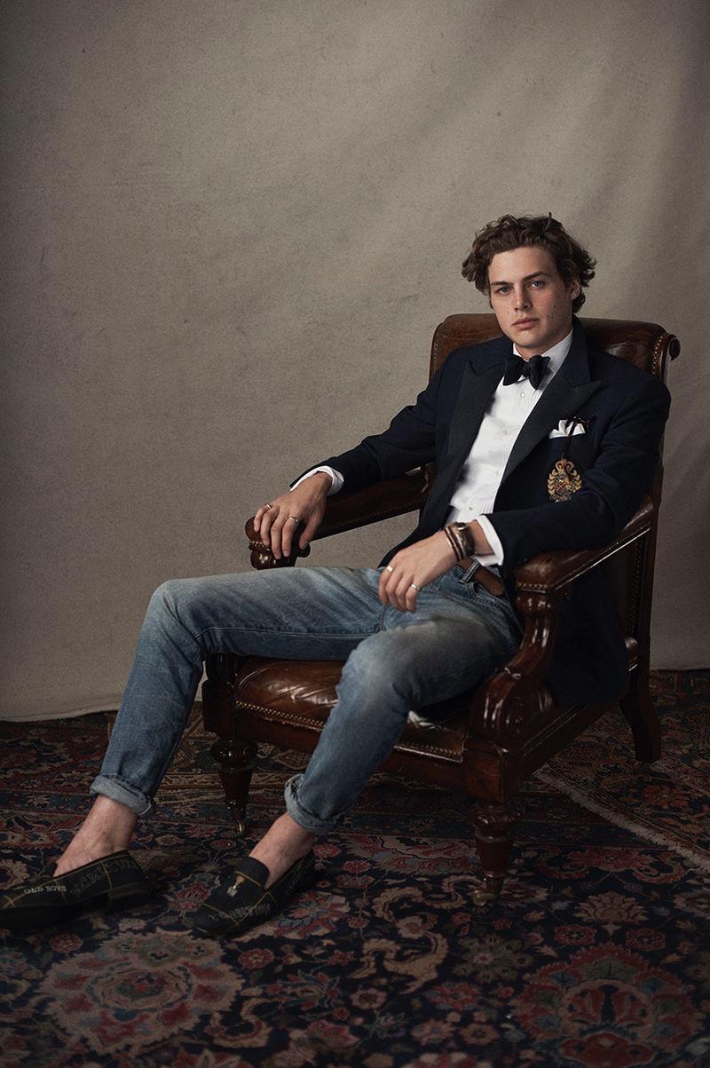 Darwin Gray models smart style from POLO Ralph Lauren.