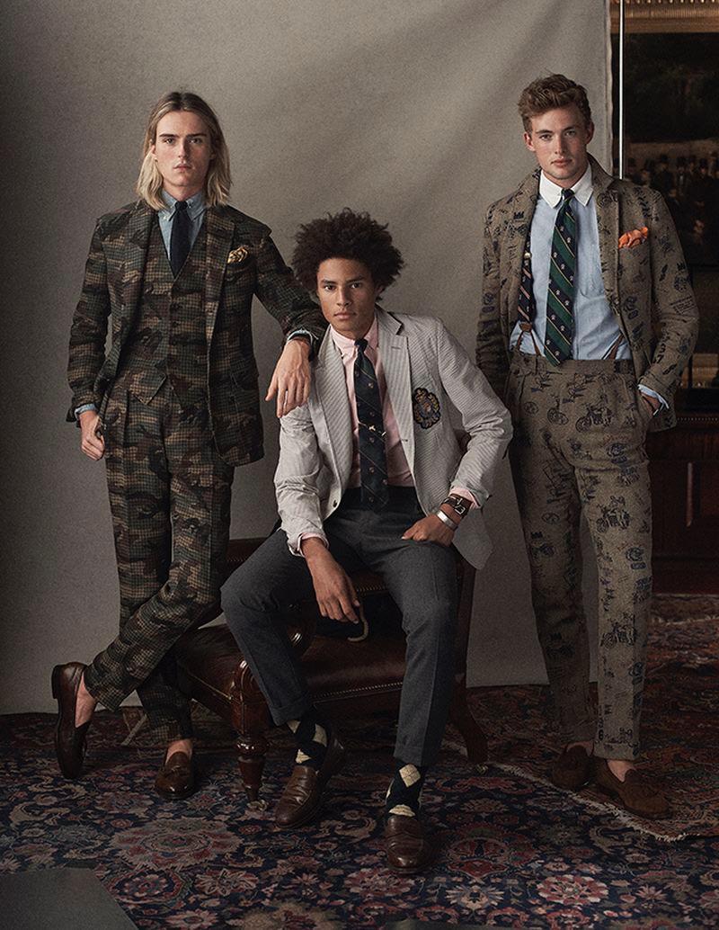 POLO Ralph Lauren enlists Luke Eisner, Johari Dramiga, and Lane McAllister to showcase its latest men's styles.