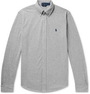 Polo Ralph Lauren - Button-Down Collar Cotton-Piqué Shirt - Men - Gray