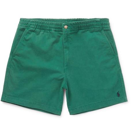 ef77448b8 Polo Ralph Lauren – Cotton-Blend Twill Chino Shorts – Men – Green ...