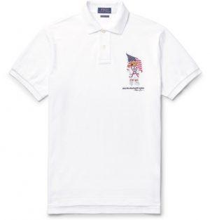 Polo Ralph Lauren - Slim-Fit Logo-Embroidered Cotton-Piqué Polo Shirt - Men - White