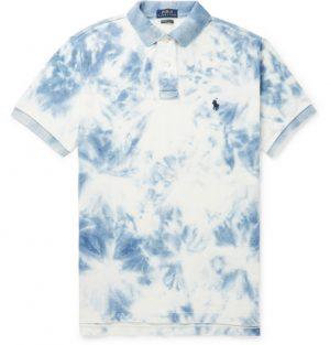 Polo Ralph Lauren - Slim-Fit Tie-Dyed Cotton-Piqué Polo Shirt - Men - Blue