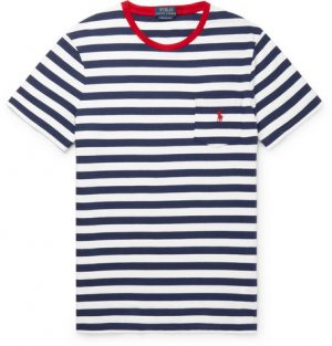 Polo Ralph Lauren - Striped Cotton-Jersey T-shirt - Men - Navy