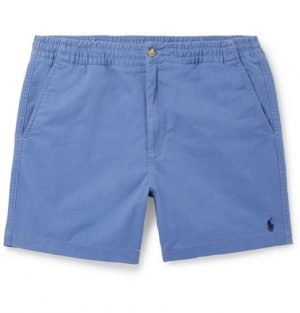 Polo Ralph Lauren - Washed Cotton-Blend Twill Shorts - Men - Blue