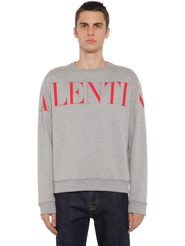 Printed Cotton Jersey Sweatshirt
