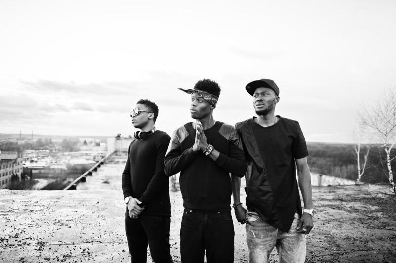Rap Group Black White Photo