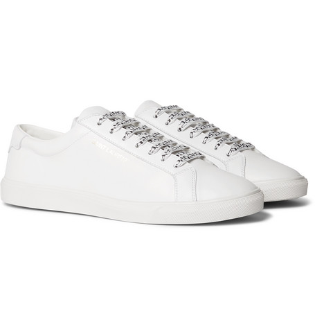 4810338e498 SAINT LAURENT – Andy Leather Sneakers – Men – White | The Fashionisto
