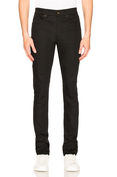 Saint Laurent 5 Pocket Skinny Jeans in Black. - size 31 (also in 28,29,30,32,34,36)