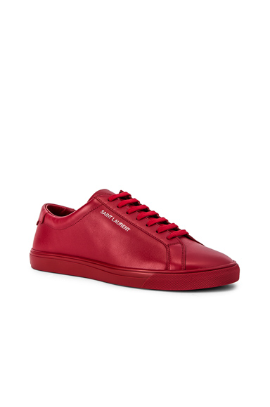Saint Laurent Andy Low Top Sneakers in Red. - size 44 (also in 41.5,40,41,42,42.5,43.5,43,45)