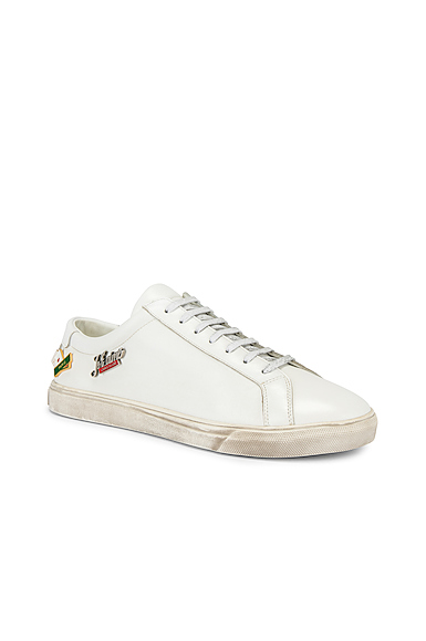 Saint Laurent Andy Low Tops in White. - size 43 (also in 43.5,44,42,41,41.5,42.5,45)