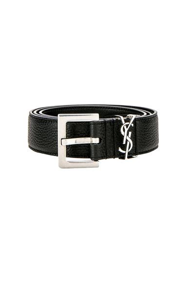 Saint Laurent Belt in Black. - size 100 (also in 105)