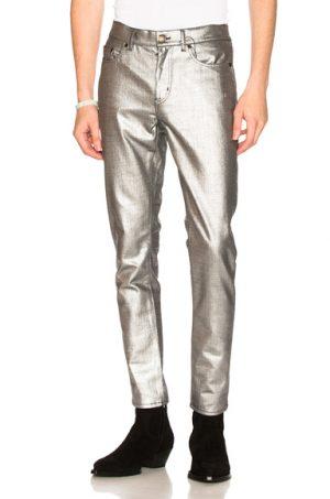 Saint Laurent Jeans in Metallic. - size 34 (also in 29,30,31,32,33,36)