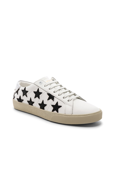 Saint Laurent Leather SL/06 Low-Top Star Sneakers in White. - size 43 (also in 42,44,45)