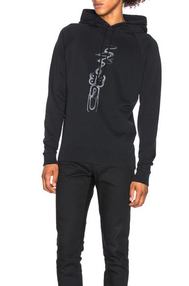 Saint Laurent Smoking Gun Hoodie in Black,Blue. - size S (also in M)
