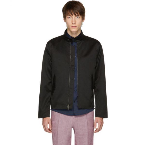 Saturdays NYC Black Harrington Pima Jacket
