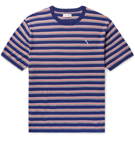 Saturdays NYC - Knitted Cotton and Cashmere-Blend T-Shirt - Men - Blue