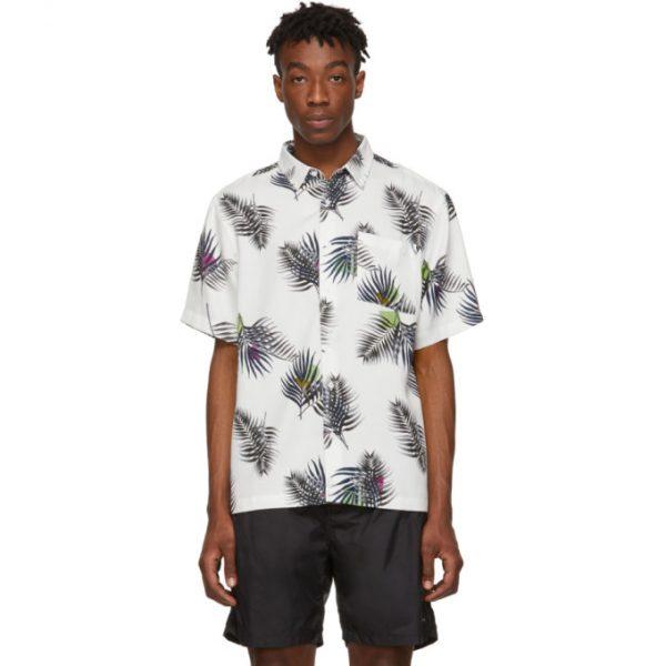Saturdays NYC White Bruce Short Sleeve Shirt