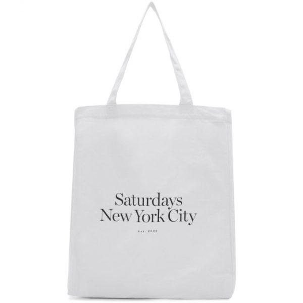 Saturdays NYC White Miller Standard Tote