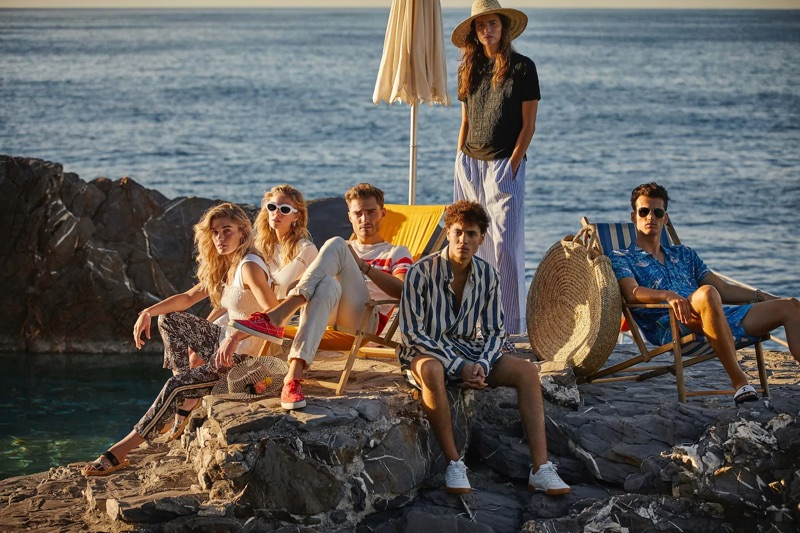 Taking inspiration from the Mediterranean, Scotch & Soda delivers summer style with its (left to right) Placement stripe t-shirt, striped twill shirt, and surf print shirt.