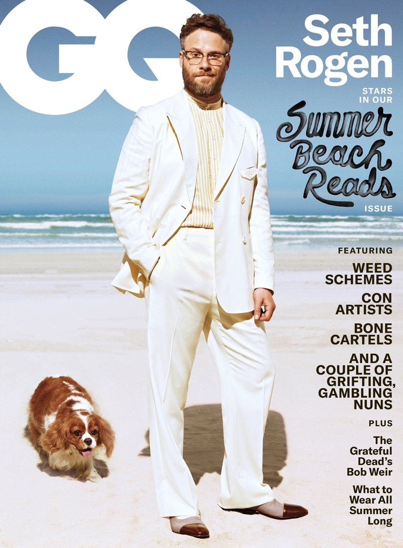 Seth Rogen covers the June/July 2019 issue of GQ.