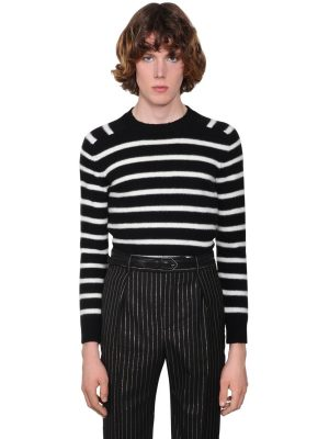 Striped Virgin Wool Sweater