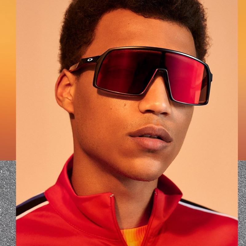 Nicolas Arcangeli goes sporty in a pair of Oakley sunglasses $163.