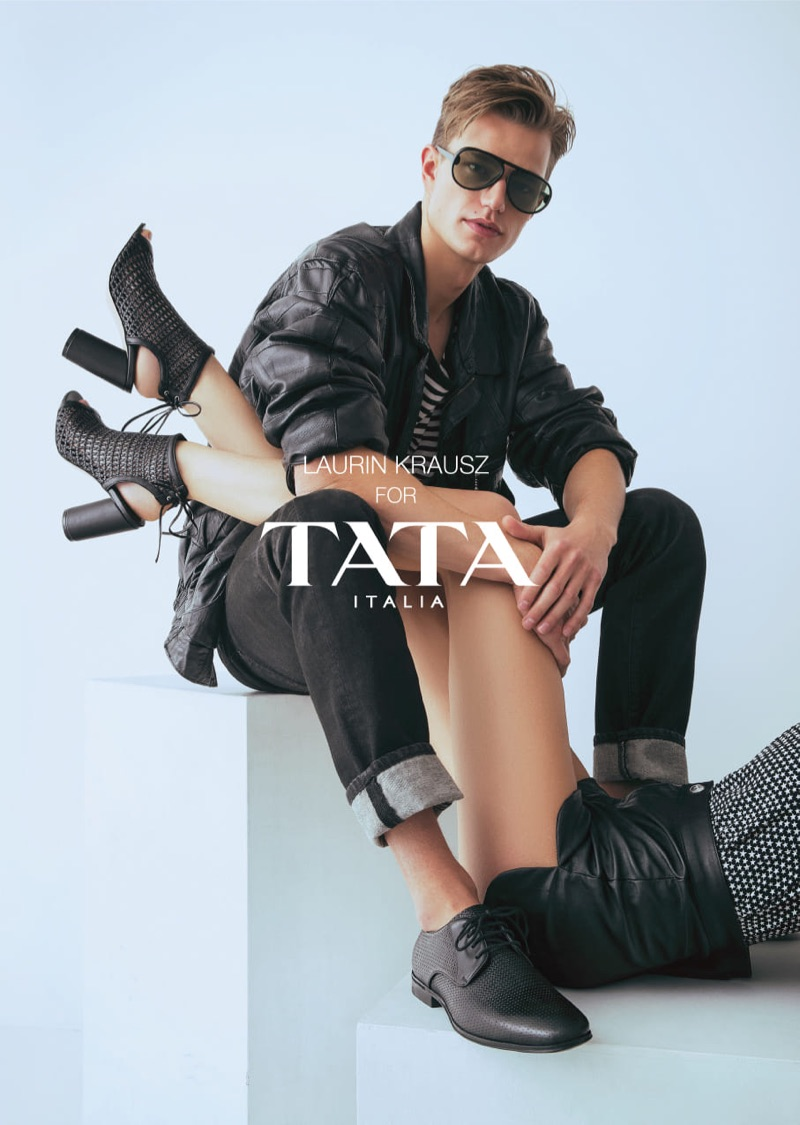 Front and center, Laurin Krausz stars in TATA Italia's spring-summer 2019 campaign.